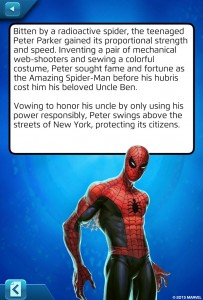 Marvel Puzzle Quest Spider-Man Original Biography