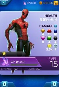 Marvel Puzzle Quest Spider-Man Original Character Info